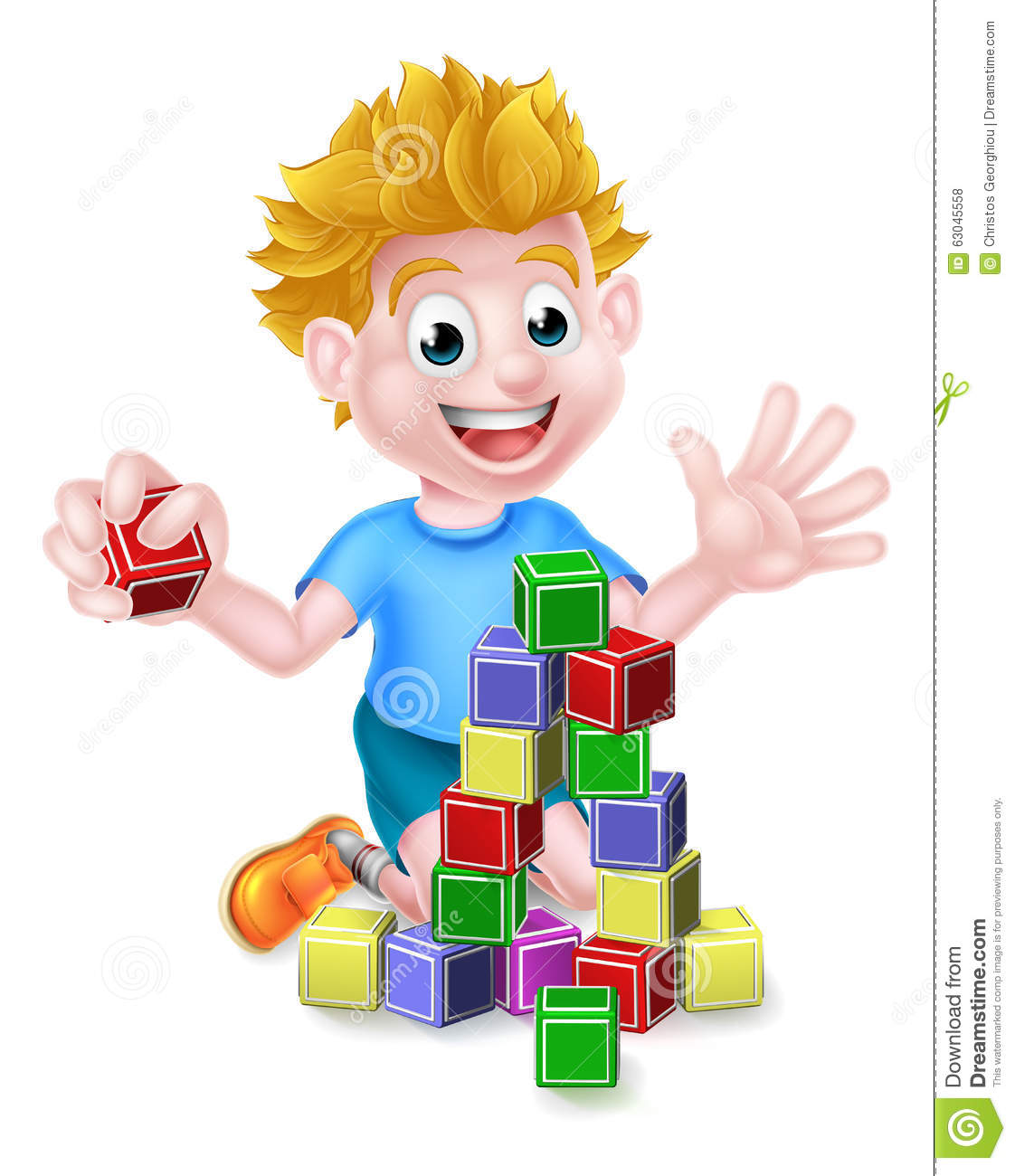 child building with blocks clipart - Clipground