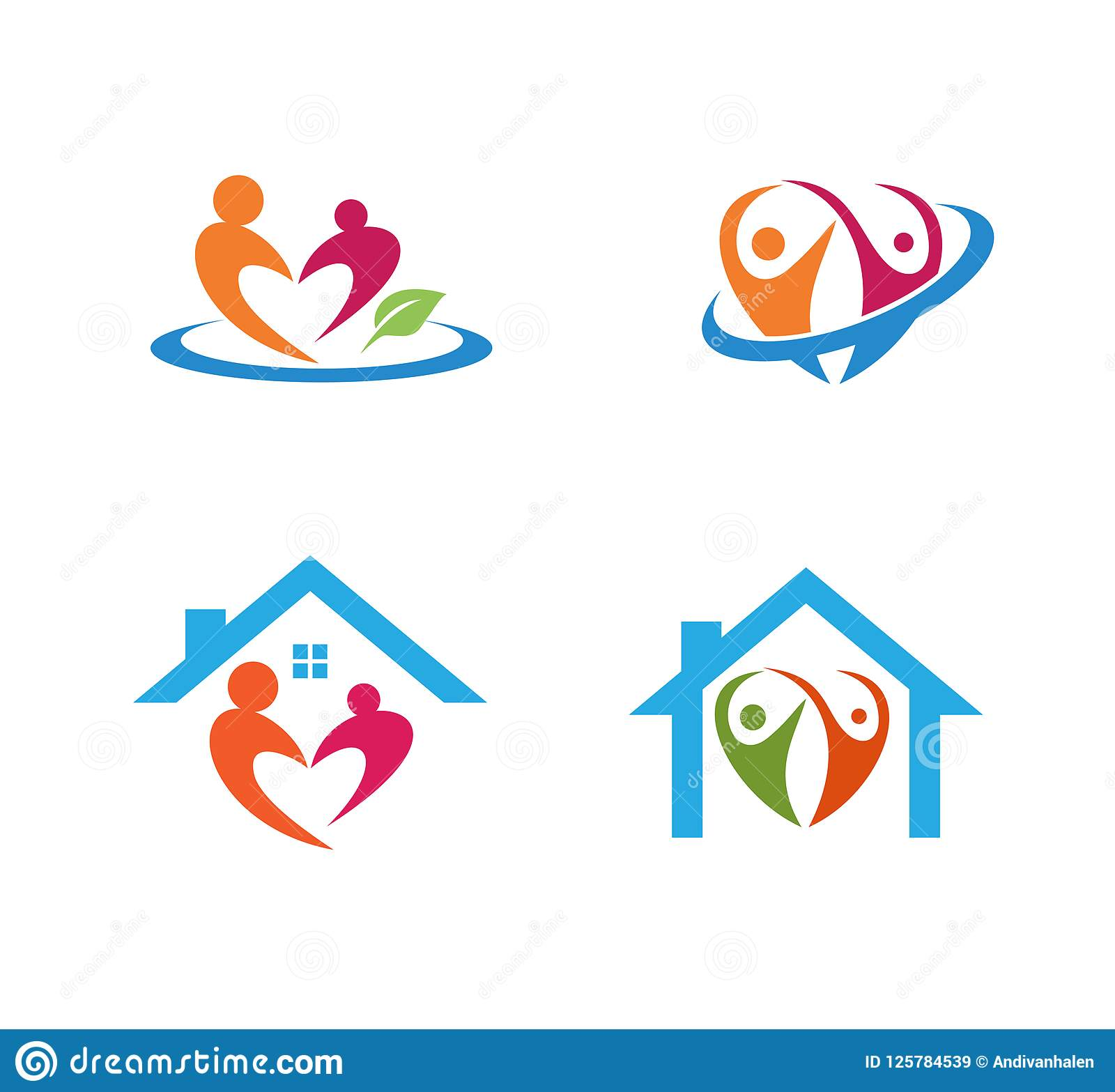 Child Care Parenting Education And Adoption Vector Logo Design Stock.