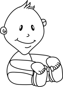 Baby Outline Clip Art at Clker.com.
