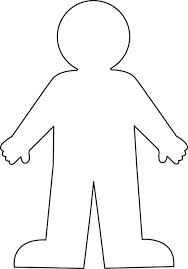 child clipart outline.