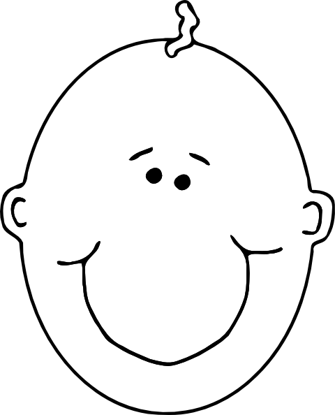 Child Outline Clipart.