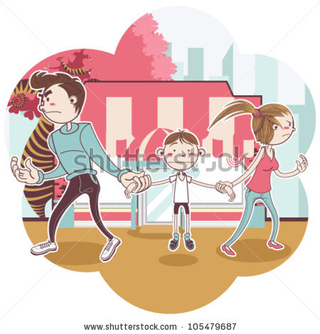 Child Custody Stock Vector Illustration 105479687 : Shutterstock.