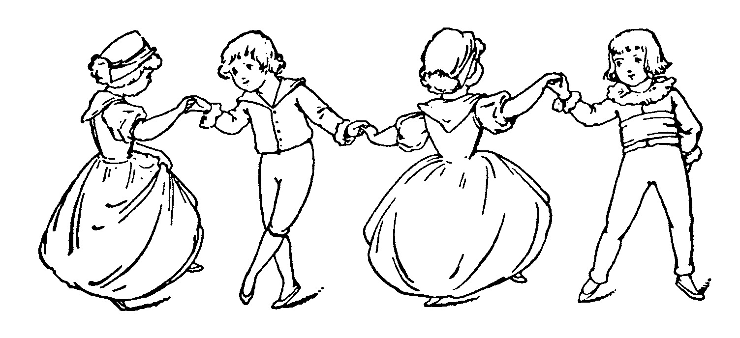 Children Dancing Clipart Black And White.