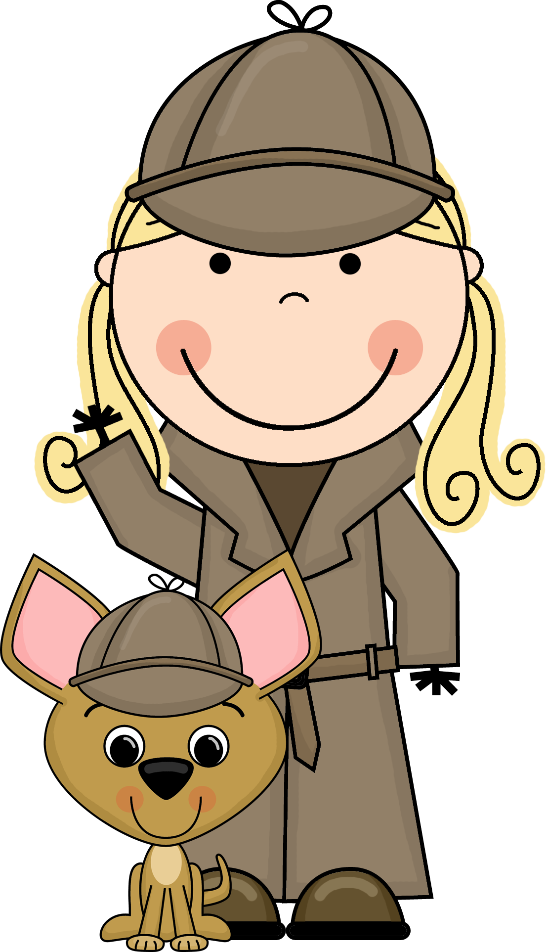 Kid Detective Clipart.