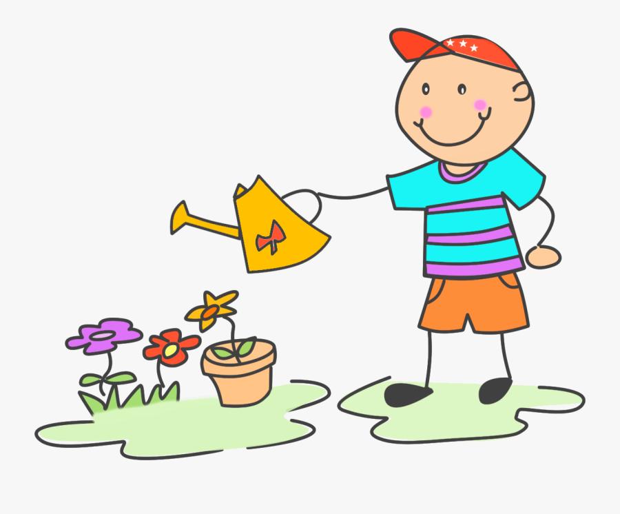 Clip Art Child Doing Chores.