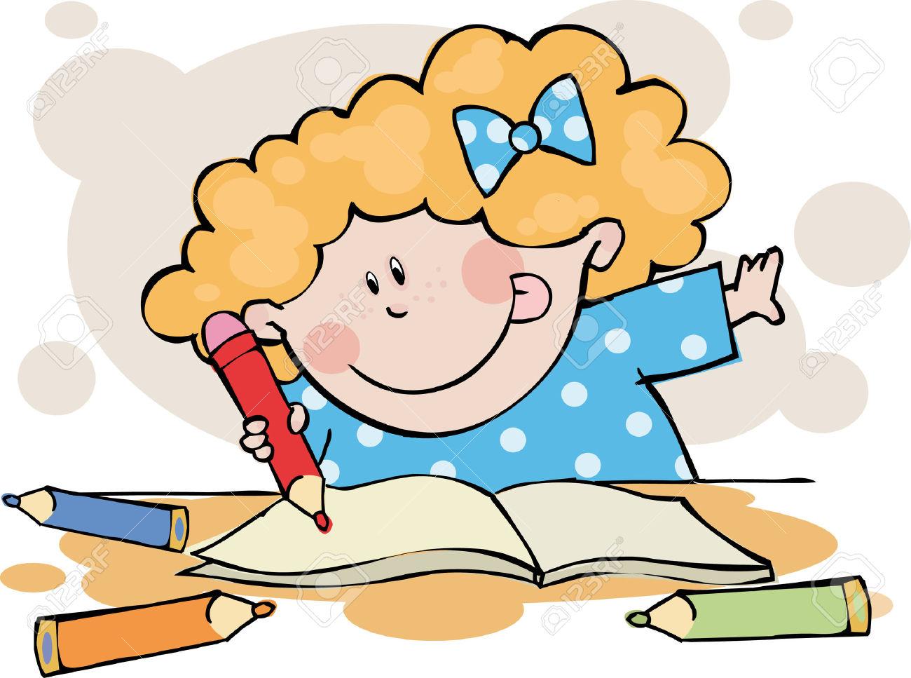 child doing homework clipart - Clipground