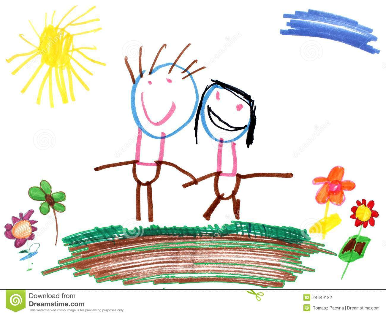Child's Drawing Royalty Free Stock Photography.