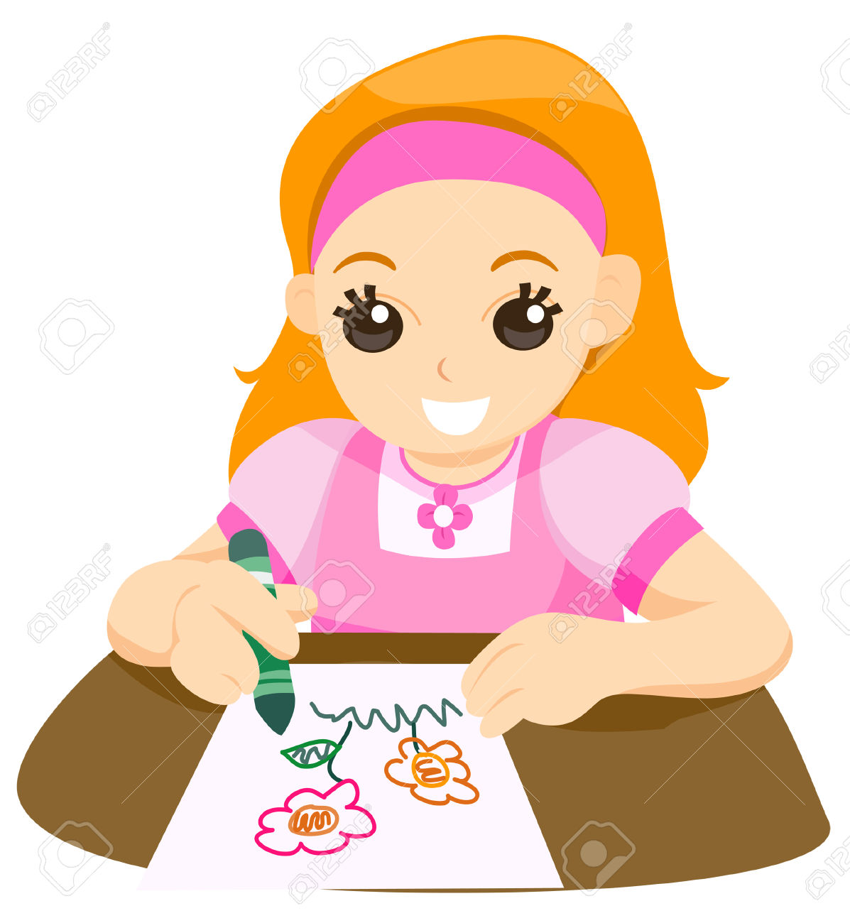 Child Drawing Royalty Free Cliparts, Vectors, And Stock.