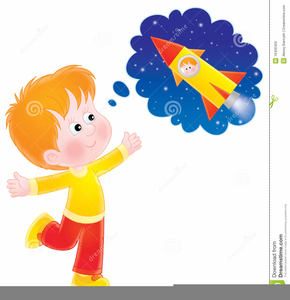 Kids Dreaming Clipart.