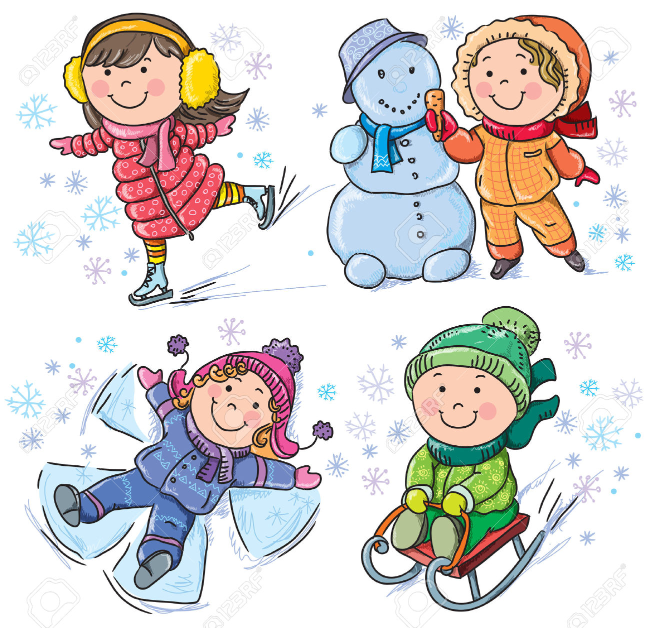 2,450 Ice Winter Clothes Stock Vector Illustration And Royalty.