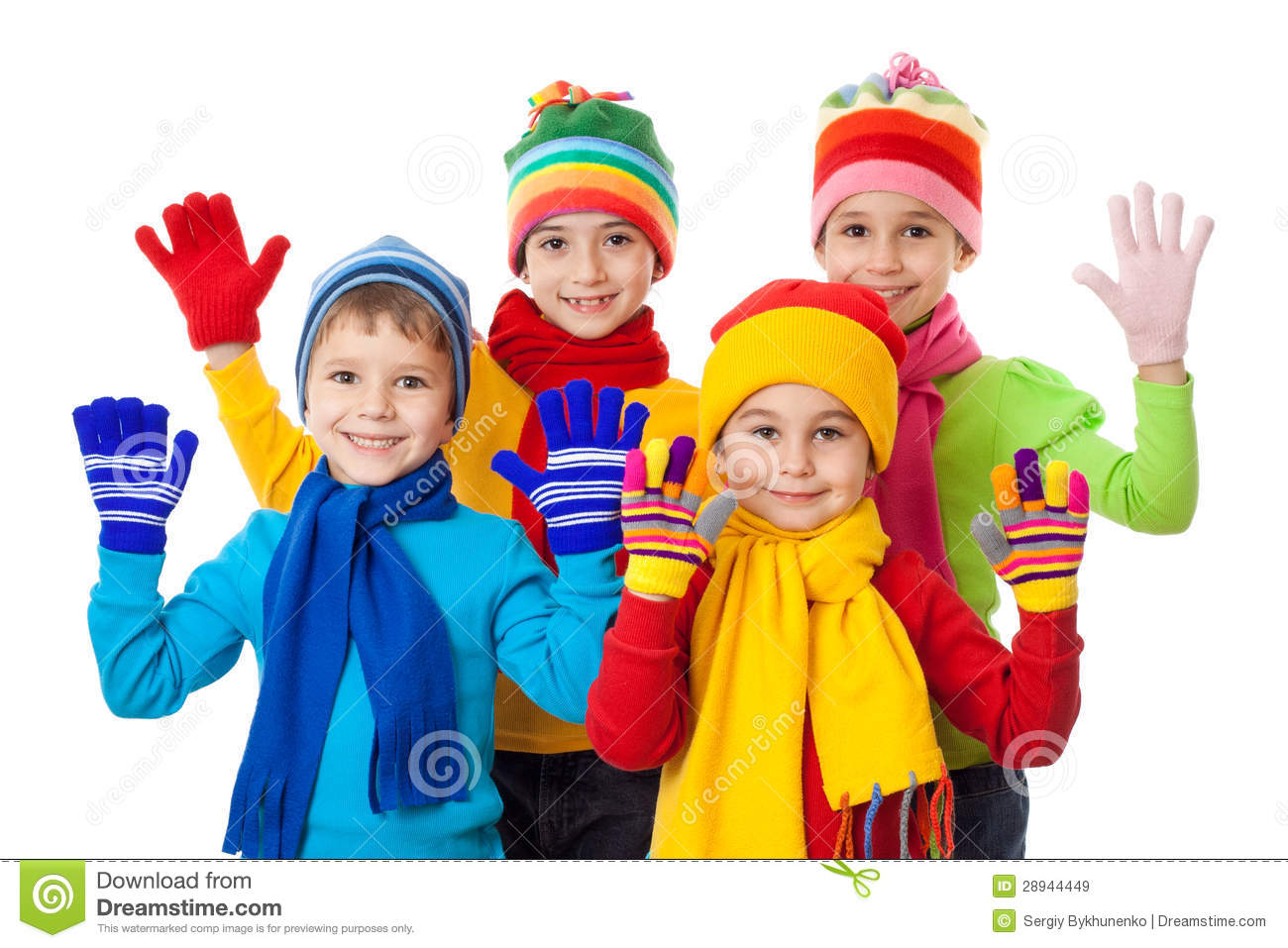 Child Dress Winter Clipart.
