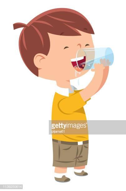 60 Top Child Drinking Water Stock Illustrations, Clip art, Cartoons.