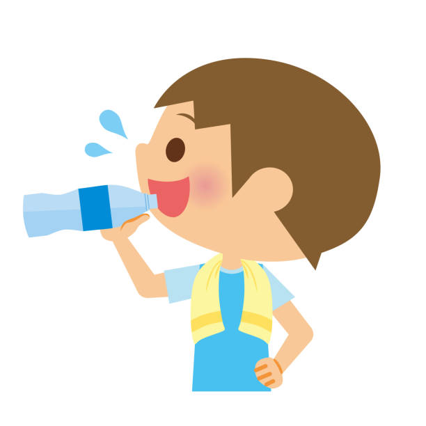 Best Asian Child Drinking Water Illustrations, Royalty.