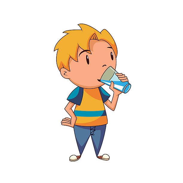 Children drinking water clipart » Clipart Station.