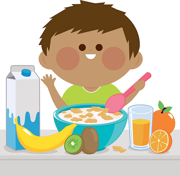 Child eating breakfast clipart 4 » Clipart Station.