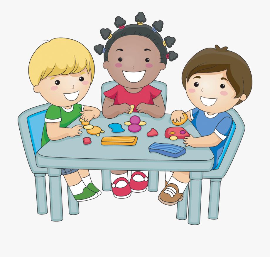 Children Eating Breakfast Clipart.