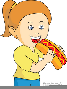 Clipart Of Child Eating Breakfast.