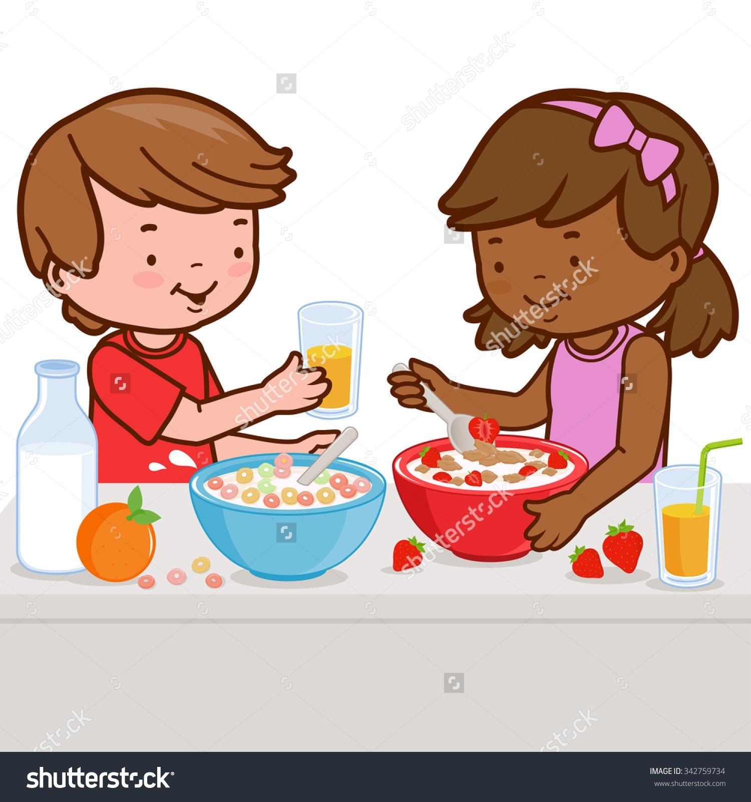 Child Eating Breakfast Clipart Kids Eating Breakfast Clipart 7.