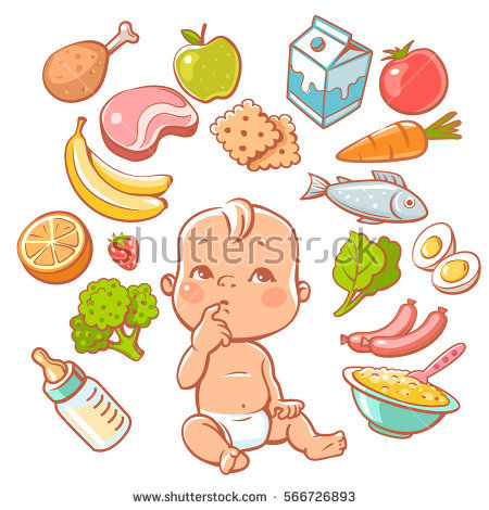 Baby Eating Stock Images, Royalty.
