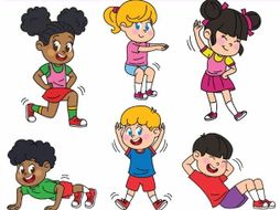 Children Exercise Clipart.