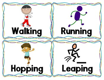 Locomotor and Nonlocomotor Movement Cards.