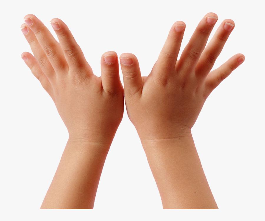 Transparent Children Raising Hands Clipart.