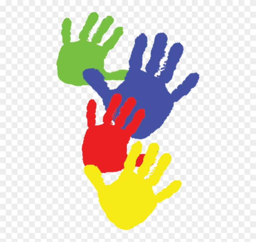 Paint Handprints Kids Clipart Paint Child Clip Art.