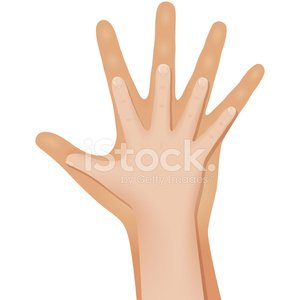 Children\'s and adult hands Clipart Image.