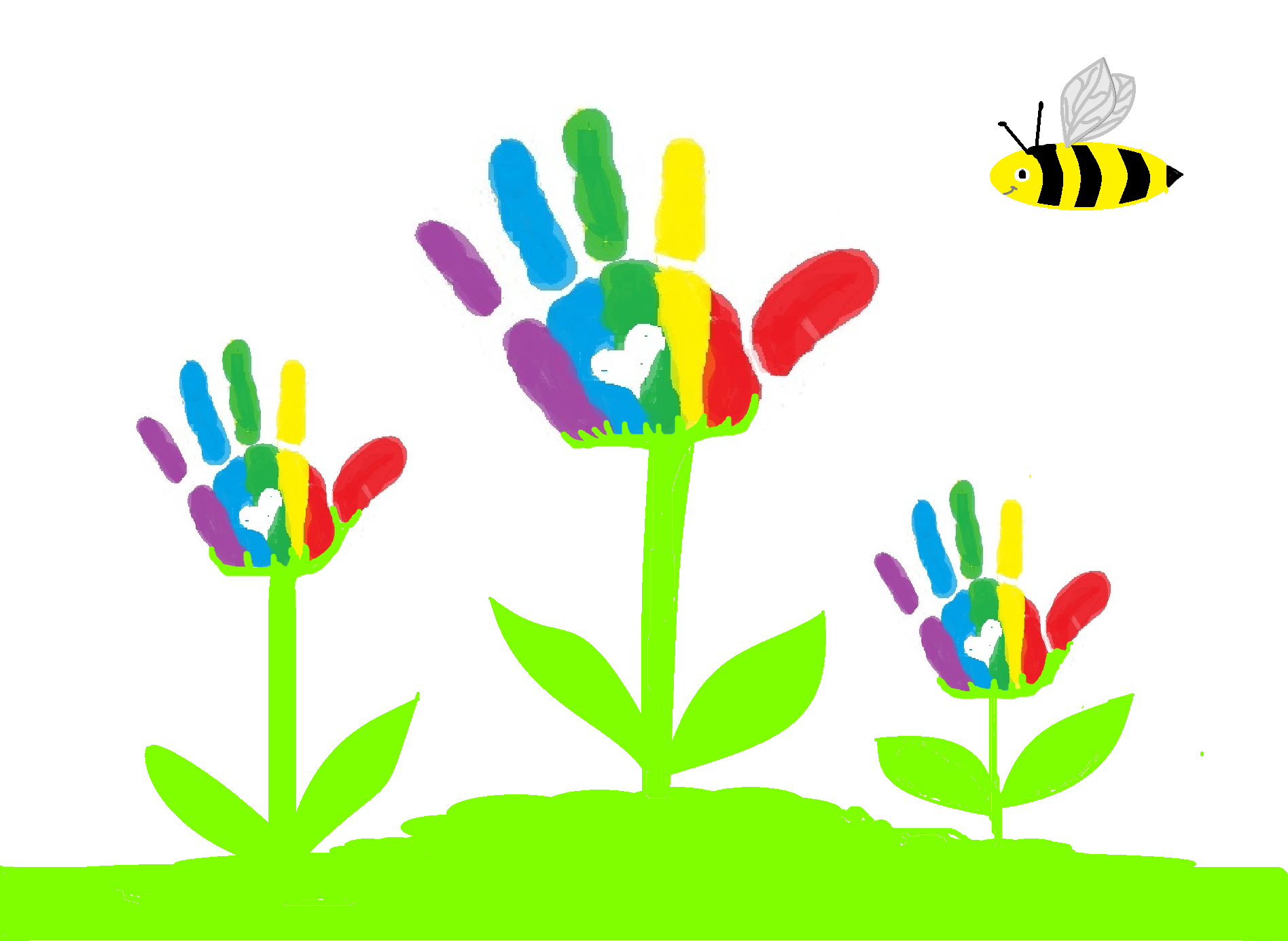 Child Handprint Clipart.
