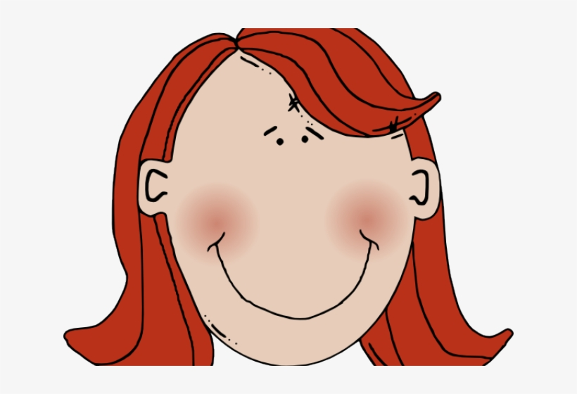 Red Hair Clipart Child Head.