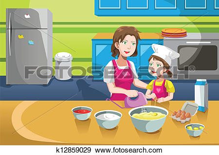 Mother kitchen Clip Art Royalty Free. 596 mother kitchen clipart.