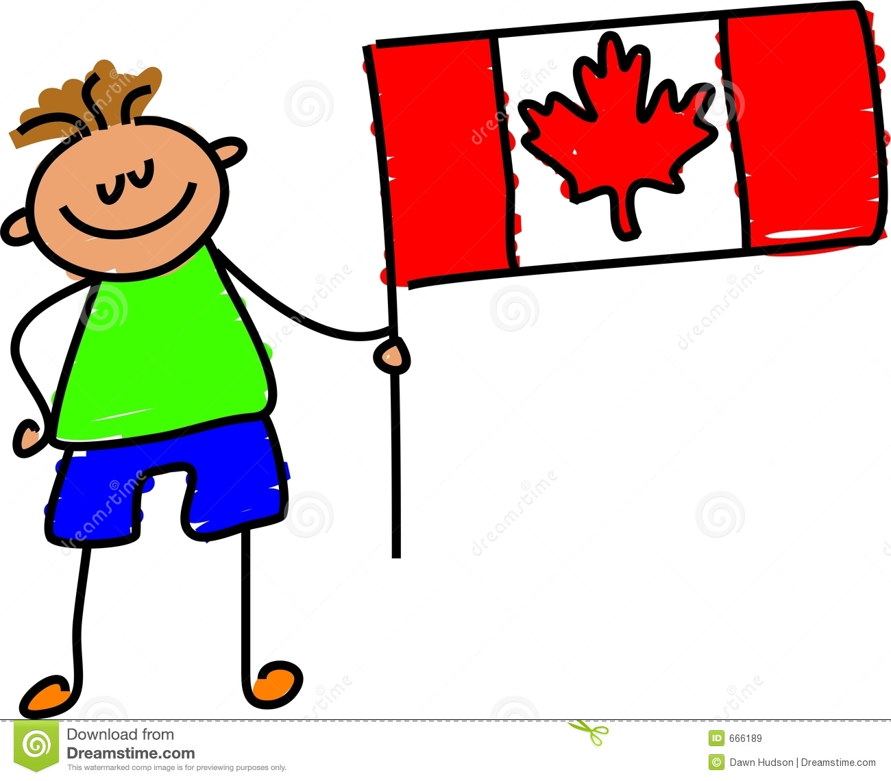 Canadian Kid Royalty Free Stock Images.