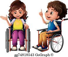 Children Wheelchair Clip Art.