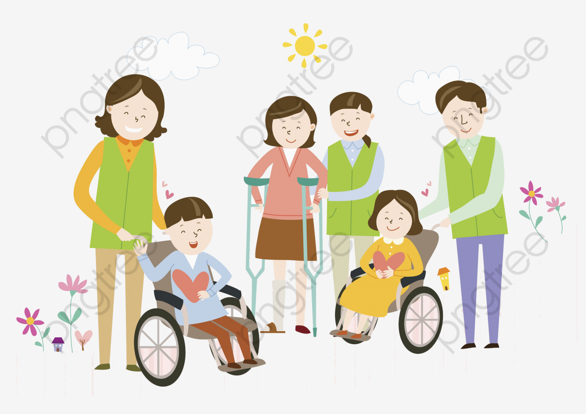 Children In Wheelchairs, Children Clipart, Cartoon, Wheelchair PNG.