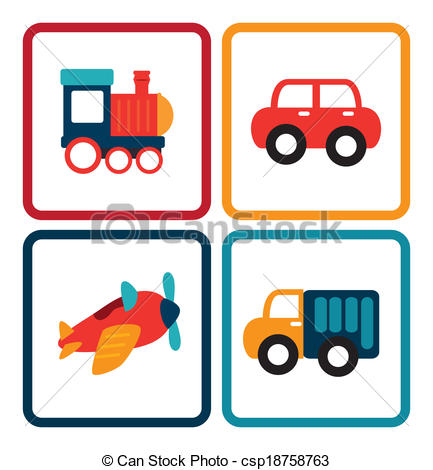 Child In Toy Car Clipart.