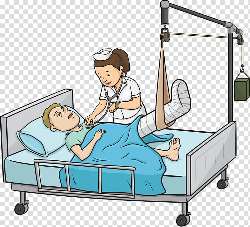 Hospital bed People in hospital Patient, Doctor Of Nursing.