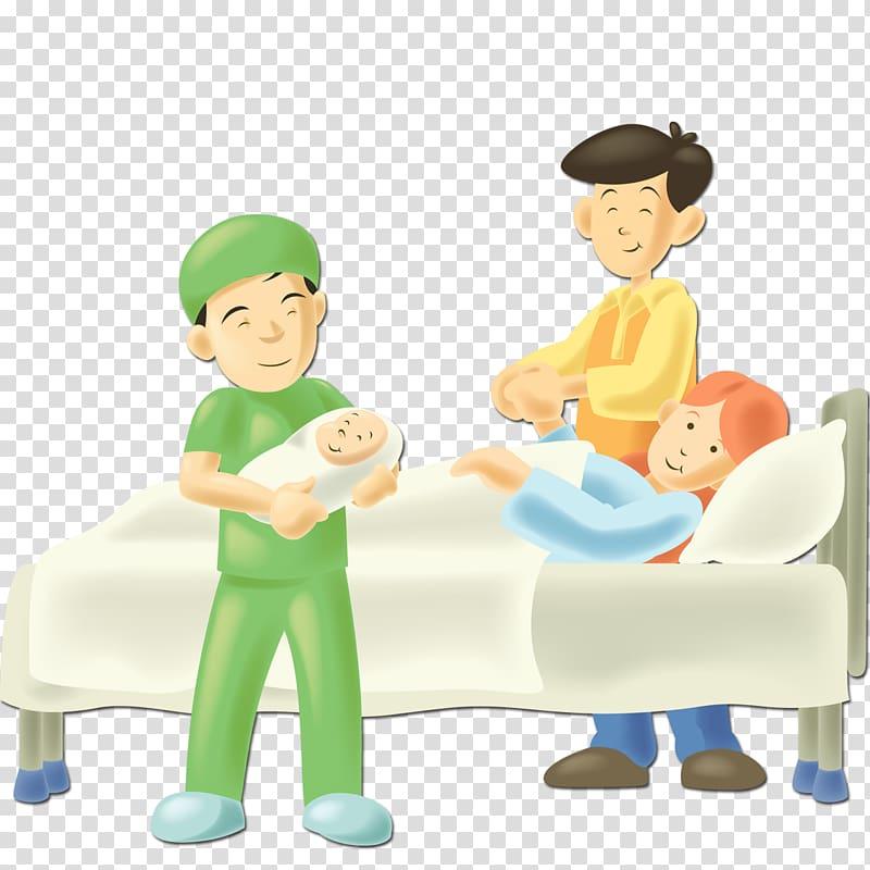 Patient Hospital bed, Have children elements transparent.