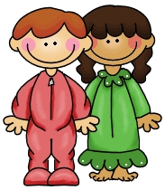Kids in pajamas clipart 6 » Clipart Station.