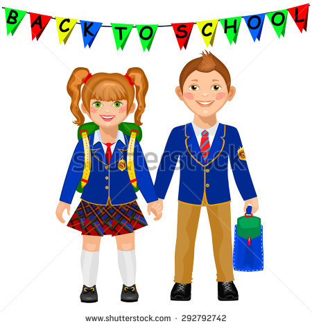 Kids School Uniforms Stock Images, Royalty.