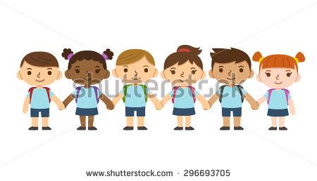 School Children In Uniform Stock Images, Royalty.