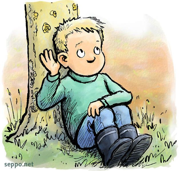 cartoon kid in time out.