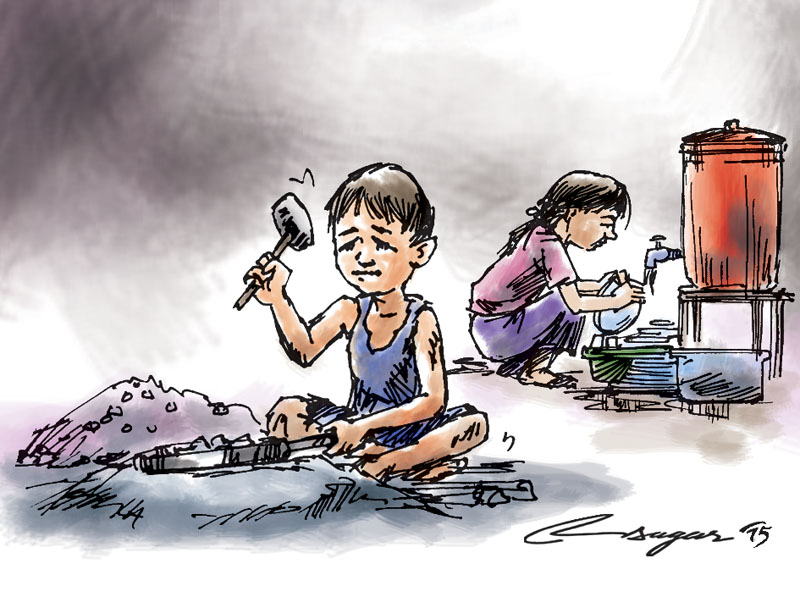 Clipart on child labour.