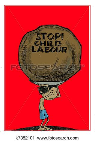 Clipart of stop child labour k7382101.