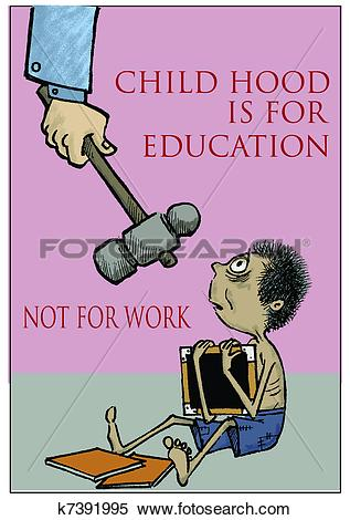 Child labour clip art.