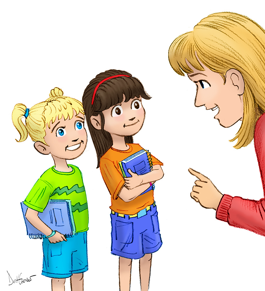 Children Listening To Teacher Clipart.