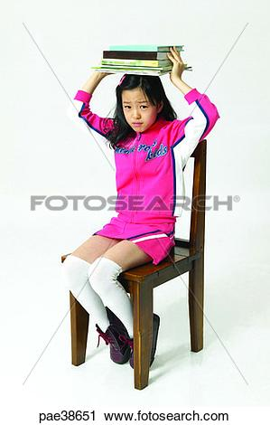 Stock Photography of child, children, young, model, models, Korean.