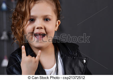 Stock Photography of beautiful young female child model wearing a.