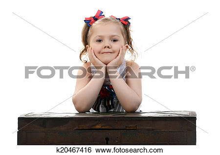 Stock Images of beautiful young female child model sitting on a.