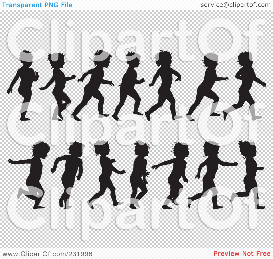 Free Clipart No Watermark Child Running.