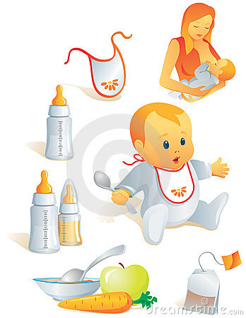 Baby Nutrition, Solid Food, Mi Royalty Free Stock Image.